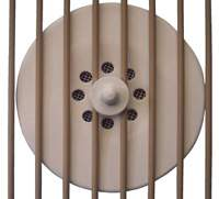 Fan heater for a dog cage